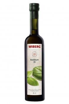 Basilikum-Öl,  Natives Oliven-Öl Extra 99,9% mit Basilikum-Extrakt - WIBERG - 500 ml