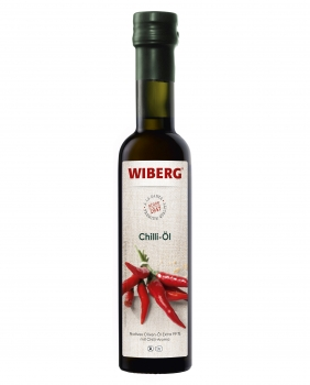 Chili-Öl Natives Oliven-Öl extra 99,9% mit Chili-Aroma - WIBERG - 250 ml