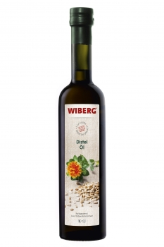Distel-Öl, kaltgepresst, aus Färberdistelsamen - WIBERG - 500 ml