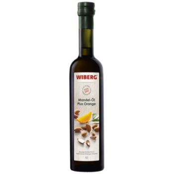 Mandel-Öl Plus Orange, Mandel-Öl 98,5% mit natürl. Orangen-Aroma - WIBERG - 500 ml